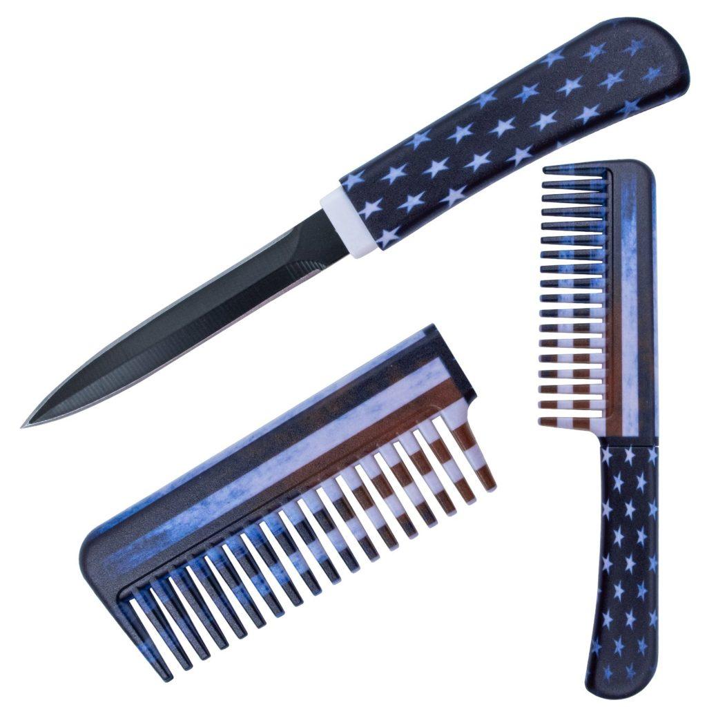 Panther – USA Flag Comb Knife