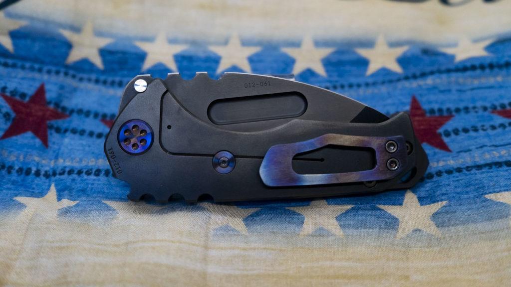 "Medford Knife – MK029SPT-30PV-TFCF-BP – Genesis ""T"" – S35VN PVD Tanto Blade, PVD Handles"